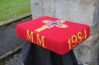 Kneeler - Donated By: St. Andrews Mother Union; Dedicated To: Mary Middleton; Worked By: Florence Brammer;