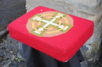 Kneeler - Donated By: Mrs Joyce McNee; Dedicated To: Ruby Wedding of Tom and Joyce;
