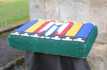 Kneeler - Donated By: Mr R Jackson & Family; Dedicated To: Mrs Edna Jackson; Worked By: Mrs M Tulip;