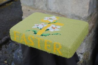 Kneeler - Donated By: Mrs E Jackson; Worked By: Mrs D Hall;