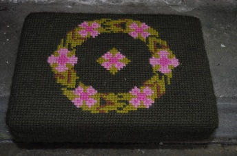 Kneeler - Donated By: Family of Mothers Union; Dedicated To: Edna Jackson; Worked By: Jane Reece;