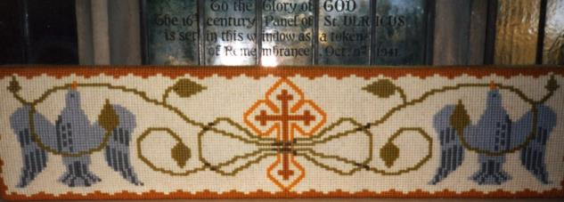 Kneeler - Dedicated To: Wedding Kneeler; Worked By: Mrs Florence Brammer;