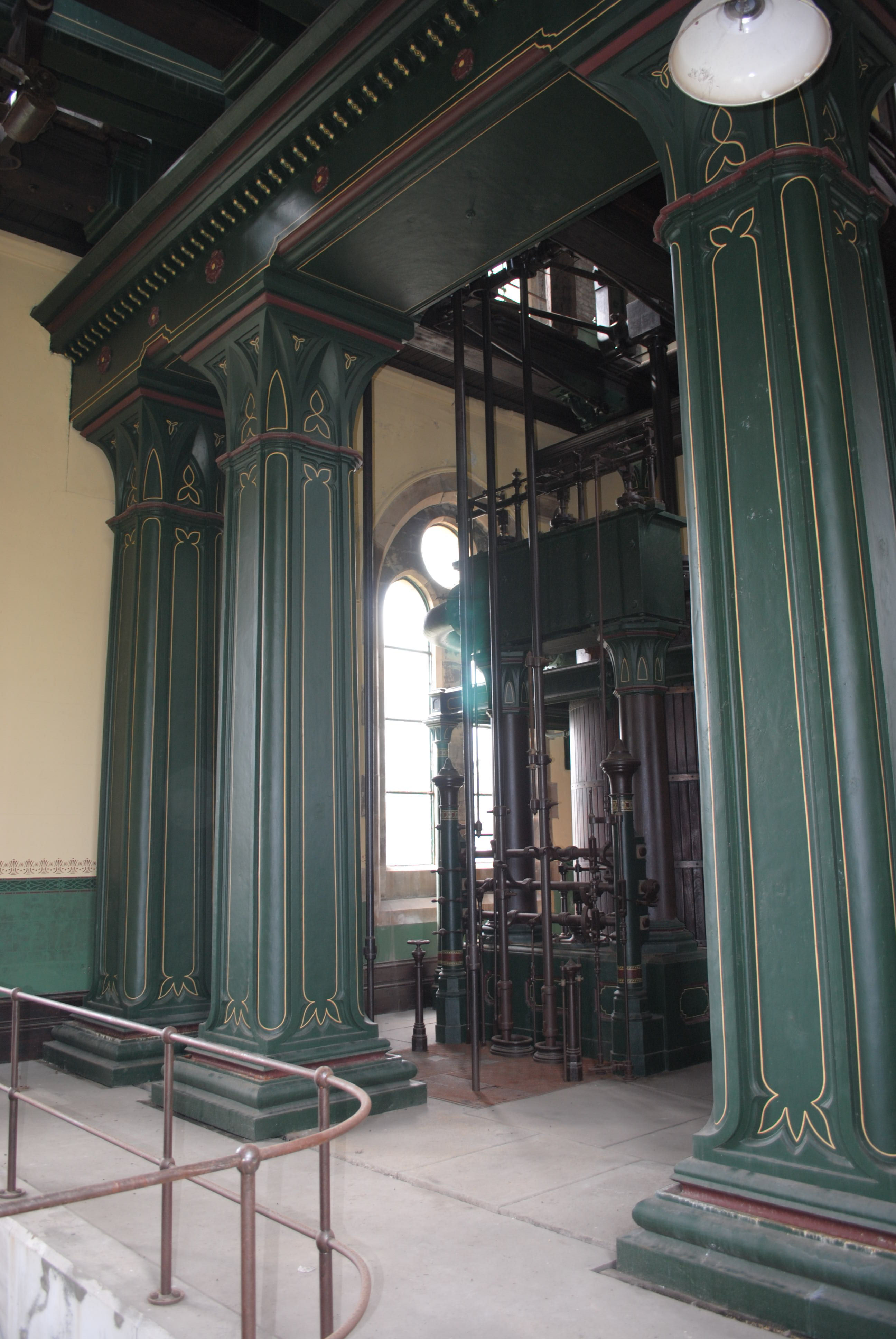 Cast iron columns with Gothic trefoil capitals